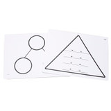 Write-On/Wipe-Off Fact Family Triangle Mat, Multiplication, Pack of 10