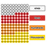 Magnetic Place Value Disks & Headings: Grades 1-3