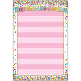 """Smart Poly» French Immersion Chart w/Grommet, 13"""" x 19"""", Confetti, Horaire des classes (Class Schedule)"""