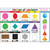"""Smart Poly» French Immersion Chart, 13"""" x 19"""", Formes et couleurs (Shapes & Colors)"""
