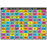 """Smart Poly» Learning Mat, 12"""" x 17"""", Double-Sided, French Sight Words 1st & 2nd Year"""