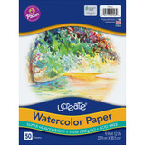 """Watercolor Paper, White, Package, 140 lb., 9"""" x 12"""", 50 Sheets"""