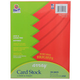 """Card Stock, Rojo Red, 8-1/2"""" x 11"""", 100 Sheets"""