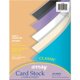 """Classic Card Stock, 5 Assorted Colors, 8-1/2"""" x 11"""", 100 Sheets"""
