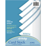 """Card Stock, White, 8-1/2"""" x 11"""", 40 Sheets"""