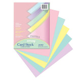 """Pastel Card Stock, 5 Assorted Colors, 8-1/2"""" x 11"""", 100 Sheets"""