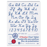 """Chart Tablet, Cursive Cover, 2"""" Ruled, 24"""" x 32"""", 25 Sheets"""