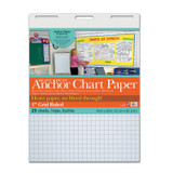 """Pacon¨ Heavy Duty Anchor Chart Paper, Non-Adhesive, White, 1"""" Grid Ruled 24"""" x 32"""", 25 Sheets"""