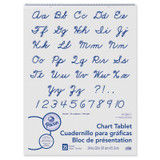 """Chart Tablet, Cursive Cover, Unruled 24"""" x 32"""", 25 Sheets"""