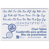 """Chart Tablet, Cursive Cover, Unruled 24"""" x 16"""", 25 Sheets"""