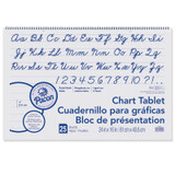"""Chart Tablet, Cursive Cover, 1"""" Ruled, 24"""" x 16"""", 25 Sheets"""