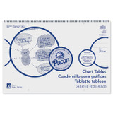 """Chart Tablet, Cursive Cover, 1"""" Ruled, 24"""" x 16"""", 30 Sheets"""
