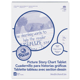 """Picture Story Chart Tablet, White, Ruled Short, 1-1/2"""" Ruled, 24"""" x 32"""", 25 Sheets"""