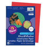 """SunWorks¨ Construction Paper, Holiday Red, 9"""" x 12"""", 50 Sheets"""