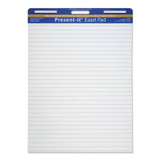 """The Present-It¨ Easel Pad, Self-Adhesive, White, 1"""" Ruled 25"""" x 30"""", 25 Sheets"""