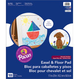 """Easel & Floor Pads, White, Unruled 17"""" x 20"""", 50 Sheets, Pack of 2"""