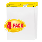 """Easel Pad, 25"""" x 30"""", Self Stick Sheets, 30 Sheets/Pad, Pack of 4"""