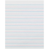 """Sulphite Handwriting Paper, Dotted Midline, Grade 2, 1/2"""" x 1/4"""" x 1/4"""" Ruled Short, 8"""" x 10-1/2"""", 500 Sheets"""
