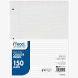 Notebook Paper, College Ruled, 150 count
