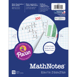 """MathNotes¨ Graphing Paper, White, 3-Hole Punched, 1/2"""" and 1/4"""" Grid Ruled, 8-1/2"""" x 11"""", 150 Sheets"""