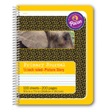 """Primary Composition Book, Spiral Bound, D'Nealian/Zaner-Bloser, 1/2"""" x 1/4"""" x 1/4"""" Picture Story Ruled, 9-3/4"""" x 7-1/2"""", 100 Sheets"""