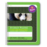 """Primary Composition Book, Spiral Bound, D'Nealian/Zaner-Bloser, 5/8"""" x 5/16"""" x 5/16"""" Picture Story Ruled, 9-3/4"""" x 7-1/2"""", 100 Sheets"""