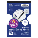 """Note Pad, White, 4"""" x 6"""", 150 Sheets"""