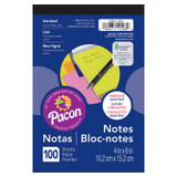 """Note Pad, 5 Vibrant Assorted Colors, 4"""" x 6"""", 100 Sheets"""