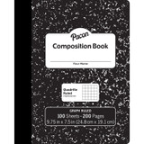 """Composition Book, Black Marble, 1/5"""" Quadrille Ruled, 9-3/4"""" x 7-1/2"""", 100 Sheets"""