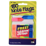 Peel Off Sticky Note Flags, 140 Page Markers & 50 Arrow Flags per Pack, Assorted Colors