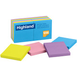 """Self-Stick Removable Notes, 3"""" x 3"""", 12 Pads"""