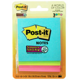 """Super Sticky Notes, 3"""" x 3"""", Marrakesh Collection, 3 Pads/Pack"""