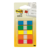 Flags, Assorted Primary Colors, 1/2 in Wide, 100/On-the-Go Dispenser