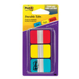 Tabs, 1 inch Solid, Red, Yellow, Blue, 22 Tabs/Color, 66/Dispenser