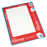 """Poster Board, White, 11"""" x 14"""", 5 Sheets/Pack, Carton of 24 Packs"""