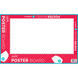 """Poster Board, White, 14"""" x 22"""", 8 Sheets/Pack, Carton of 24 Packs"""