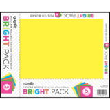 """Neon Poster Board, 5 Assorted Colors, 11"""" x 14"""", 5 Sheets/Pack, Carton of 24 Packs"""