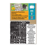 """Presentation Board Kit, White, Includes Self-Adhesive Letters, 48"""" x 36"""", 1 Kit"""