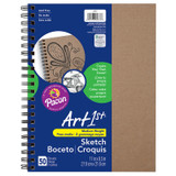 """Art1st¨ Create Your Own Cover Sketch Diary, Natural Chip Cover, 11"""" x 8-1/2"""", 50 Sheets"""