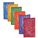 """Mesh Equipment Bag, 24"""" x 36"""", Assorted Colors, Pack of 6"""