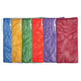 """Mesh Equipment Bag, 24"""" x 48"""", Assorted Colors, Pack of 6"""