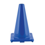 """Hi-Visibility Flexible Vinyl Cone, weighted, 12"""", Royal Blue"""