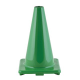 """Hi-Visibility Flexible Vinyl Cone, weighted, 12"""", Green"""