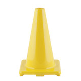 """Hi-Visibility Flexible Vinyl Cone, weighted, 12"""", Yellow"""