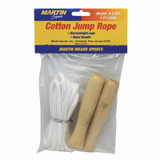 Cotton Jump Rope, Wood Handle, 7'