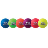 Rhino Skin¬ 6-Inch Low Bounce Dodgeball Set, Assorted Neon Colors, Set of 6