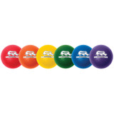 Rhino Skin¬ 8-Inch Low Bounce Dodgeball Set, Assorted Colors, Set of 6