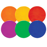 """Round Poly Spot Markers, 10"""", 6 Assorted Colors"""