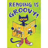 Pete the Cat¨ Reading Is Groovy Positive Poster