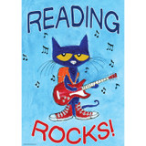 Pete the Cat¨ Reading Rocks Positive Poster